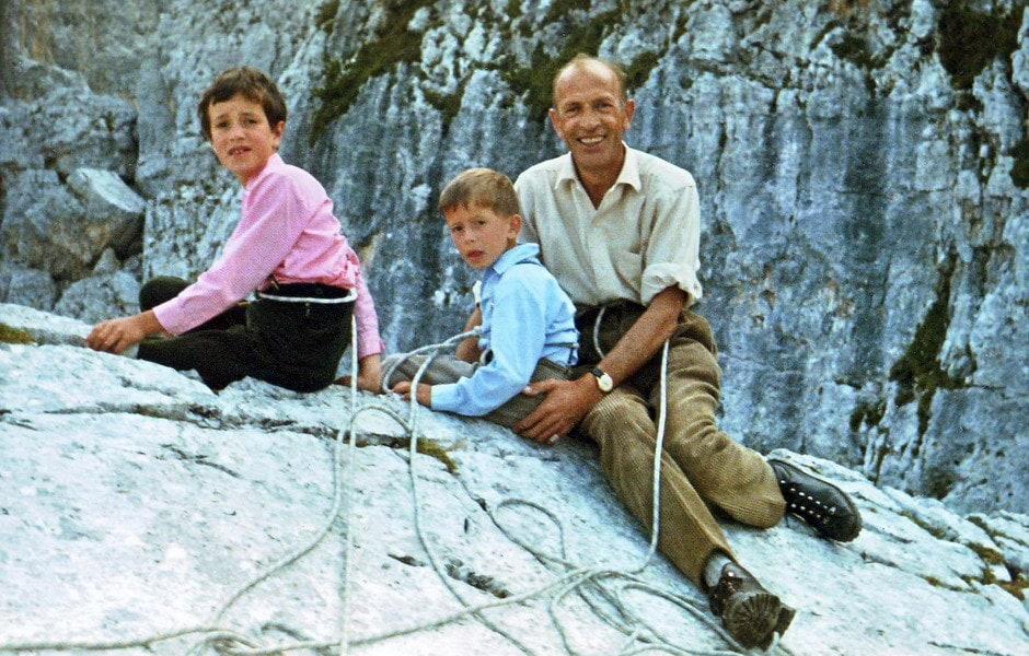 1967 - Con mia sorella Fabrizia e papà Ettore