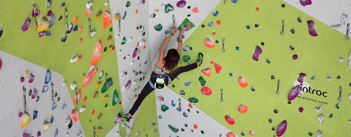 Indoor climbing gym in Cortina