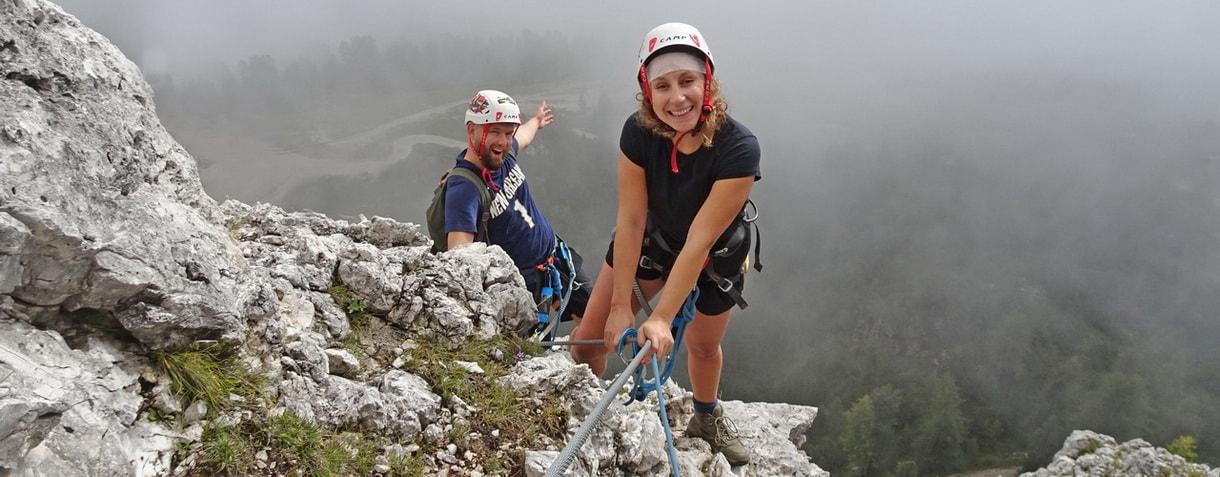 Via ferrata course in Dolomites
