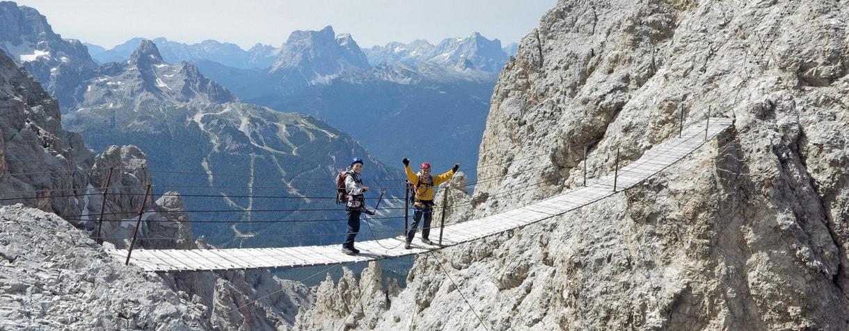 Via ferrata con guida alpina